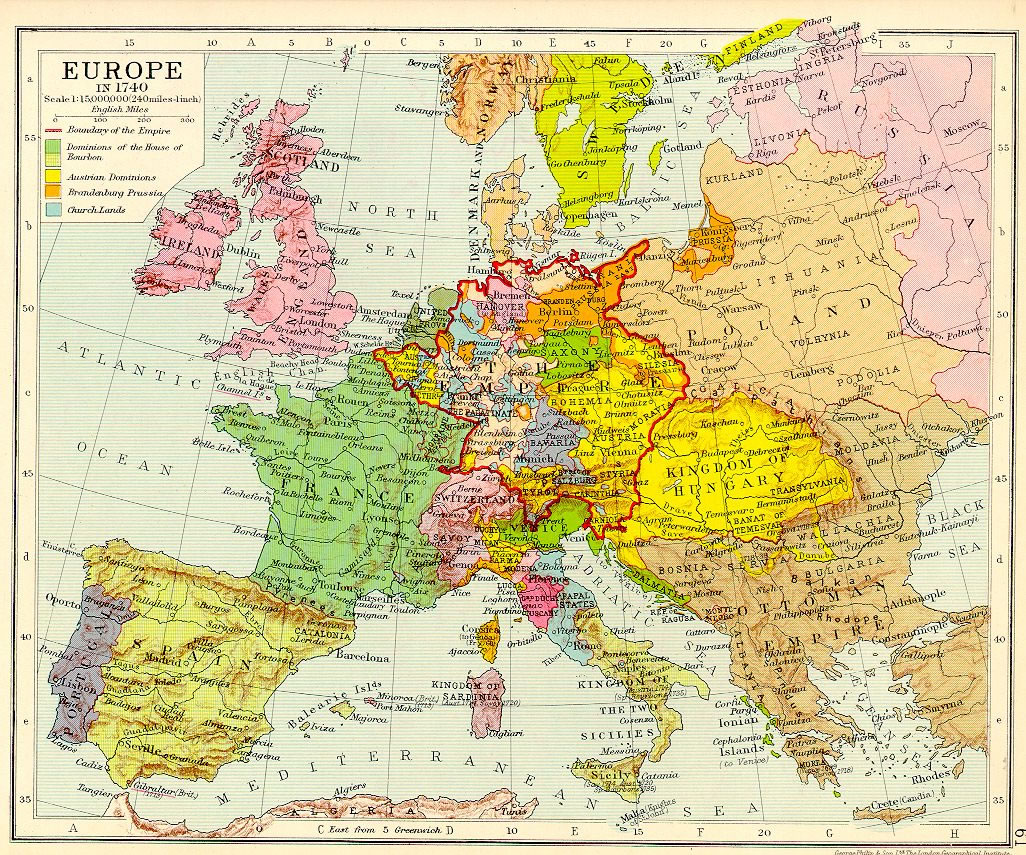 Euro Political And Diplomatic History Th Century - Europe map 15th century
